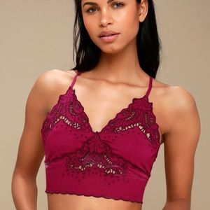 Free People MAGENTA EMBROIDERED BRAMI size Small